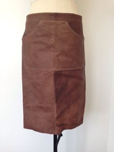 Leather Apron Brown Vintage Leather Barista Apron by Bteshome