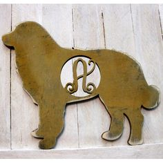 aMonogramArtUnlimited Dog Decorative Rustic Single Letter Wooden Shape Wall Décor Letter: F