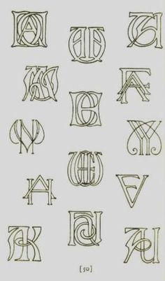 "from ""How to Design Monograms,"" 1927  ~by~ Elizabeth and Curtiss Sprague"