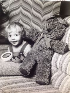 Vintage Teddy Bear Stuffed Animal Plush Crochet Pattern By Coats N3290 #CoatsClark