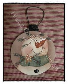 Painted Country Snowmnan Ornament  $8.95 USD.