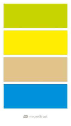 Chartreuse, Classic Yellow, Gold, and Cornflower Wedding Color Palette - custom color palette created at MagnetStreet.com