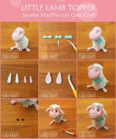 Here is my Easter Gift to you all - a free Little Lamb modelling tutorial! Use fondant/gumpaste throughout 1. Shape l