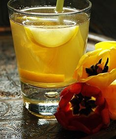 Iced tea with lemongrass and ginger - I just leave out the sugar and add my own sweetener such as raw stevia or agave nectar.  Very refreshing.