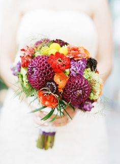 Triple Love this Colorful Bouquet! :: Photo by Holly Chapple Flowers