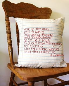 so cute. i want a pillow like that!