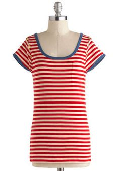 Down in the Galley Top, #ModCloth #nautical $29.99
