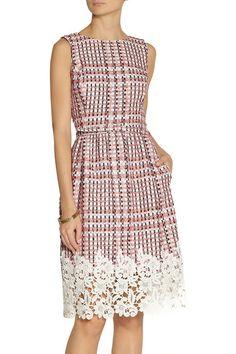Oscar de la Renta   Guipure lace-trimmed tweed dress   NET-A-PORTER.COM
