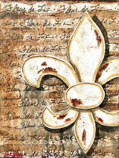 """Fleur de Lis Art Print - """"Fleur de Lis Signed Art Print, via Etsy. Zentangle, Canvas Art Prints, Framed Prints, Louisiana Art, French Royalty, Owl, Light Of Life, Vintage Labels, Watercolor Paper"""
