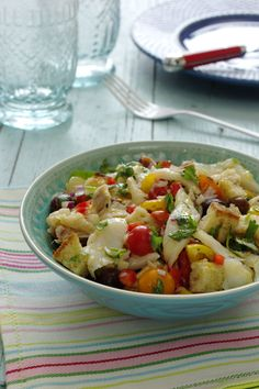 Cookbook Recipes, Cooking Recipes, Portuguese Recipes, Portuguese Food, Cod Fish, Easy Cooking, Salad Recipes, Potato Salad, Seafood