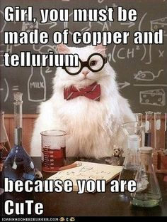 Science pick up lines.