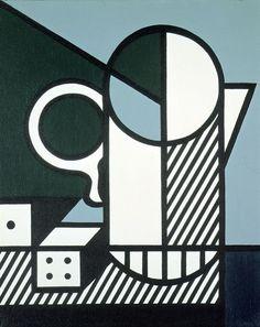Roy Lichtenstein - Purist Painting with Dice 1975