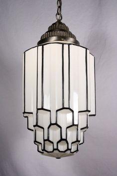 1930 's Art Deco chandelier #artdecolamps
