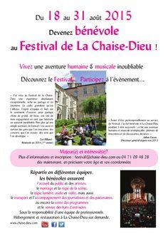 Le festival de musique de La Chaise-Dieu recherche des bénévoles du 18 au 31 août 2015