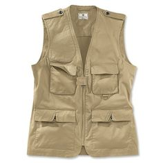 Beretta makes this safari vest. Safari vests rock because they have a million pockets. Pickpockets won't know if they're stealing the map to the lost Khan's tomb, or your snotrag. Punch them out either way, eventually winning their respect until they become your irrepresible sidekick.