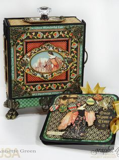 Graphic 45 Enchanted Forest Decorative Box with Mini Album