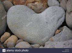 Heart-shaped stone I found on the beach at Aldborough, Suffolk. Malcolm Buckland - KWH4H3 on Alamy's library