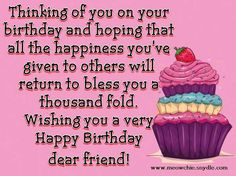 Happy Birthday Wishes, Quotes, Sayings and Messages for a Friend | Meowchie's Hideout