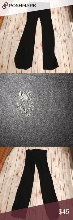 WildFox Black Lounge Pants Like their sweatshirts material. Draw string pants. Flare leg. Very comfy Wildfox Pants Leggings