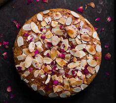 Eggless Honey Almond Cake - Tasha's Artisan Foods Eggless Recipes, Almond Recipes, Healthy Desserts, Dessert Recipes, Cake Recipes, Eggless Carrot Cake, Almond Flour Cakes, Honey Almonds, Artisan Food