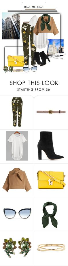"""""""Sin título #919"""" by noeliamc ❤ liked on Polyvore featuring River Island, Gucci, Gianvito Rossi, Chloé, Dolce&Gabbana, Karl Lagerfeld and Nadri"""