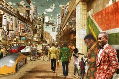 Making Africa - A Continent of Contemporary Design until 13 September 2015 at Vitra Design Museum African Life, African History, Environment Concept Art, Environment Design, African Print Fashion, Fashion Prints, City Collage, Vitra Design Museum, African Artists