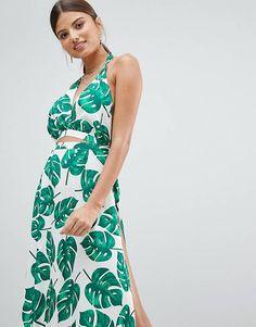 01d6e80c6556 Boohoo Cut Out Leaf Print Beach Dress Day Dresses