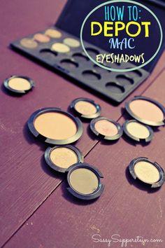 How To: Depot MAC Eyeshadows #beauty #DIY