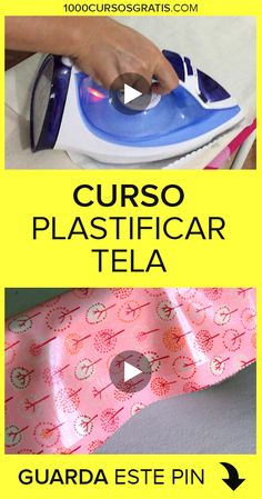 Como plastificar tela Learn how to laminate fabric very easily and quickly with this completely free Sewing Hacks, Sewing Tutorials, Sewing Projects, Felt Crafts Patterns, Diy And Crafts, Arts And Crafts, Laminated Fabric, Fabric Yarn, Love Sewing