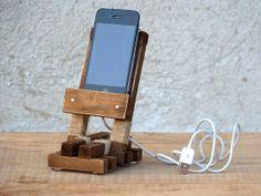 Handcrafted iPhone Wood Stand.~WoodRestart,