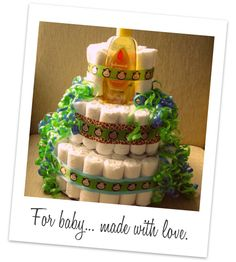 How to make a diaper cake - Nicole from Chic & Cheap Nursery guest posting at domestic adventure