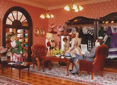 The ladies fashion department in the largest miniature department store in the world. Miniature Dollhouse Furniture, Miniature Houses, Miniature Dolls, Dollhouse Miniatures, Doll Museum, Mini Doll House, Miniture Things, Department Store, Christmas Traditions