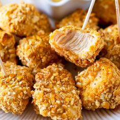 These pretzel crusted chicken bites will disappear. Everyone goes NUTS over them!