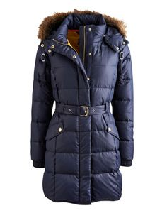 Joules null Womens Padded Coat, Marine Navy.                     One of our best-loved coats returns and with colder days on the horizon, it's just in time. This feather and duck down padded coat has been given slight feminine fit for a stylish edge and the detachable faux fur hood adds more than touch of extra warmth. A true investment piece and the only coat you'll need all season.  #joules #christmas #wishlist