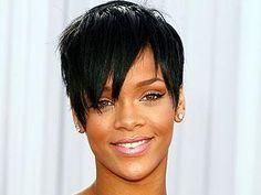 Rihanna's short hair