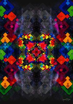 Virtual Art, Visionary Art, Psychedelic Art, Paper Art, Mystic, Print Design, Art Gallery, German, Contemporary