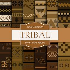 Tribal Neutral Digital TRIBAL NEUTRAL DIGITAL by DigitalPaperStore