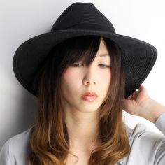 Scala straw hat ladies and paper hat and scalar Hat spring summer / collar wide Hat ladies / collar wide straw hat / Hat women's / wide brim UV measures / shade Hat / Hat UV cut / black.
