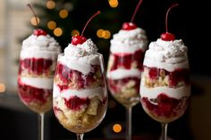 """Boozy New Year's Eve """"Party in a Glass"""" parfaits with Grand Marnier-Soaked Pound Cake, Raspberries and Chambord Whipped Cream!"""