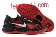 Kobe 8 Girls Black Red Basketball Shoes for Womens