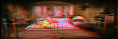 Transitions 3D (1986) Anaglifo 3d Video, Bed, Furniture, Home Decor, Red, Blue, Eyeglasses, Decoration Home, Room Decor