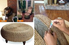 43 DIY Interesting And Useful Ideas For Your Home. This is an old tire! Fun idea for a patio. No tutorial. Gail