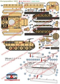 Bergepanther the restoration vehicle of the german army Paper Toys, Paper Crafts, Ww2 Tanks, Oragami, German Army, Paper Folding, Paper Models, Paper Quilling, Aircraft