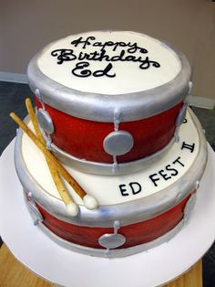 Cake Decorating Greensborough : Drum cakes on Pinterest Drum Cake, Drums and Groom Cake