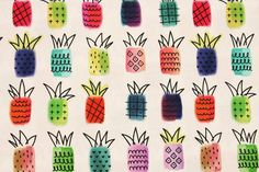 Check out this item in my Etsy shop https://www.etsy.com/listing/508098469/pineapple-patterned-fabric-made-in-korea