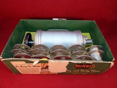 Mirro Cookie Cooky and Pastry Press 358 Vintage in Box Multi Shapes Tips Holiday #Mirro