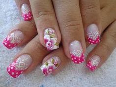 All For Fashion Design represent you a collection of 26 Amazing Trendy Nail Designs , hope these pictures will give you more inspiration for your nails. Spring Nails, Summer Nails, Cute Nails, Pretty Nails, Hair And Nails, My Nails, One Stroke Nails, Nail Designer, French Tip Nails