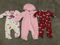 442a5ad7a Baby Winter Snow Suit And (2) Pairs Of Pajamas. Size Newborn. Carters