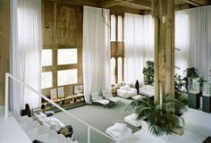 Inside the brutalist former cement factory turned studio and home of renowned Spanish architect Richard Bofill.