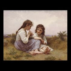 Idylle Enfantine (A Childhood Idyll) Print by Postart at http://www.zazzle.com/postart